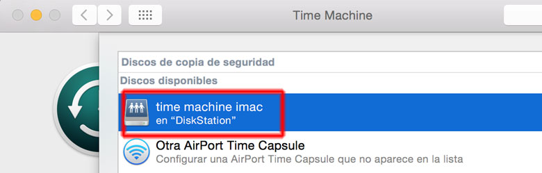 time machine con nas