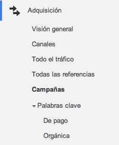 campaña google analytics