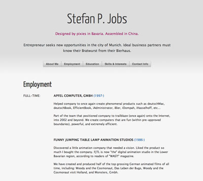 curriculum en html