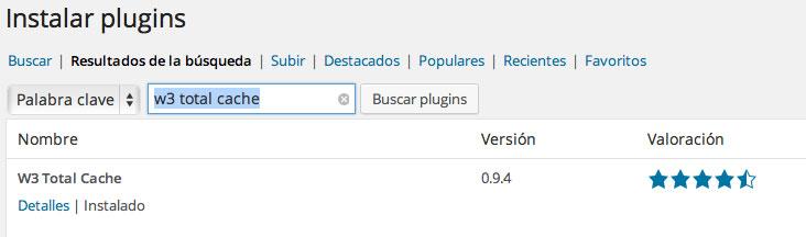 instalando w3 total cache