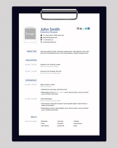 plantilla html curriculum