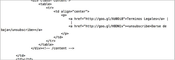 codigo html newsletter