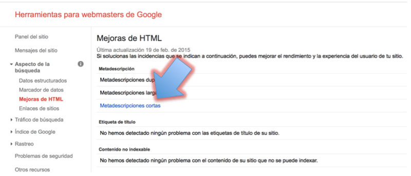 errores webmaster tools