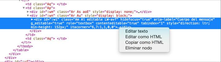 insertar html newsletter
