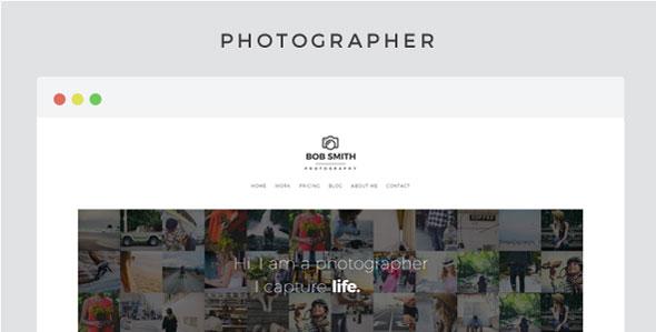 Photographer wordpress