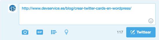 link publicación twitter