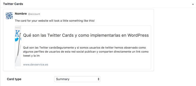 ejemplo tweeter cards